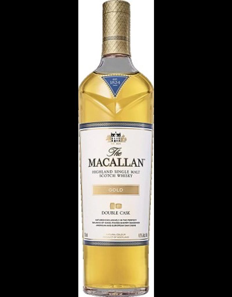 Single Malt Scotch Macallan Scotch Single Malt Double Cask Gold 750ml