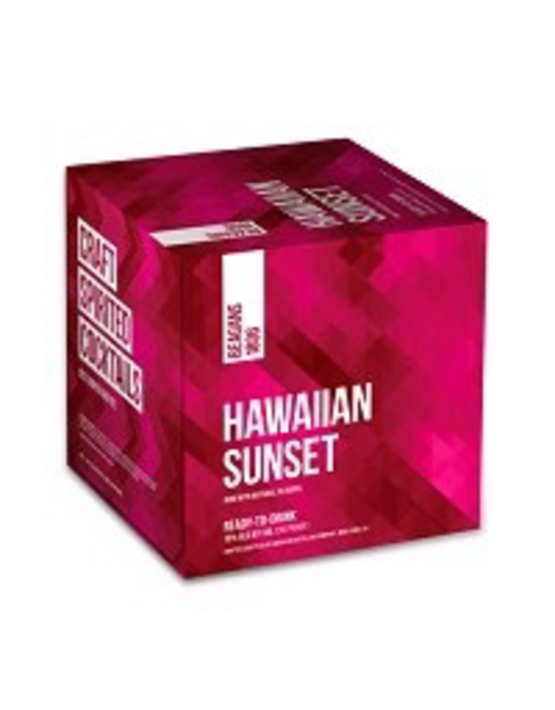 CAN MIXED DRINK Beagans Hawaiian Sunset Cans 4Pack 200ml