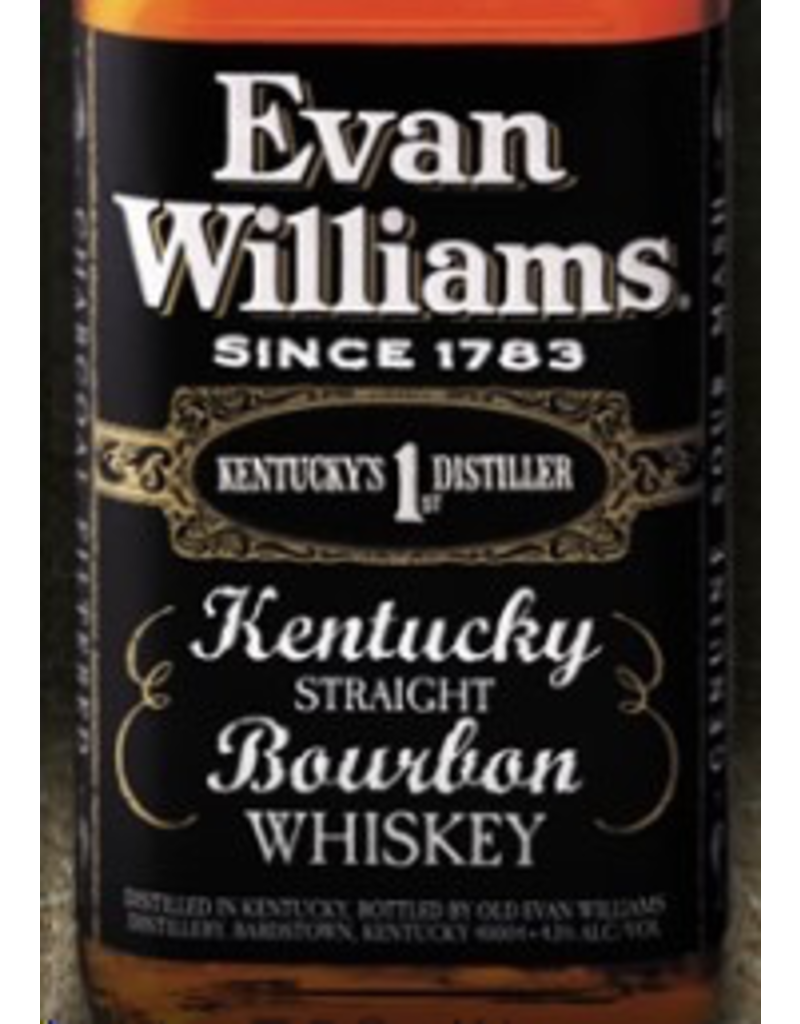 Bourbon Whiskey Evan Williams Bourbon Black Label 1.75 Liter