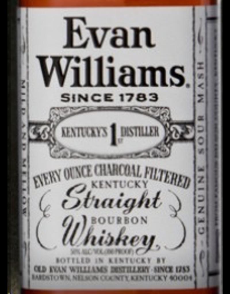 Bourbon Whiskey Evan Williams Bourbon Bottled-In-Bond White Label Liter