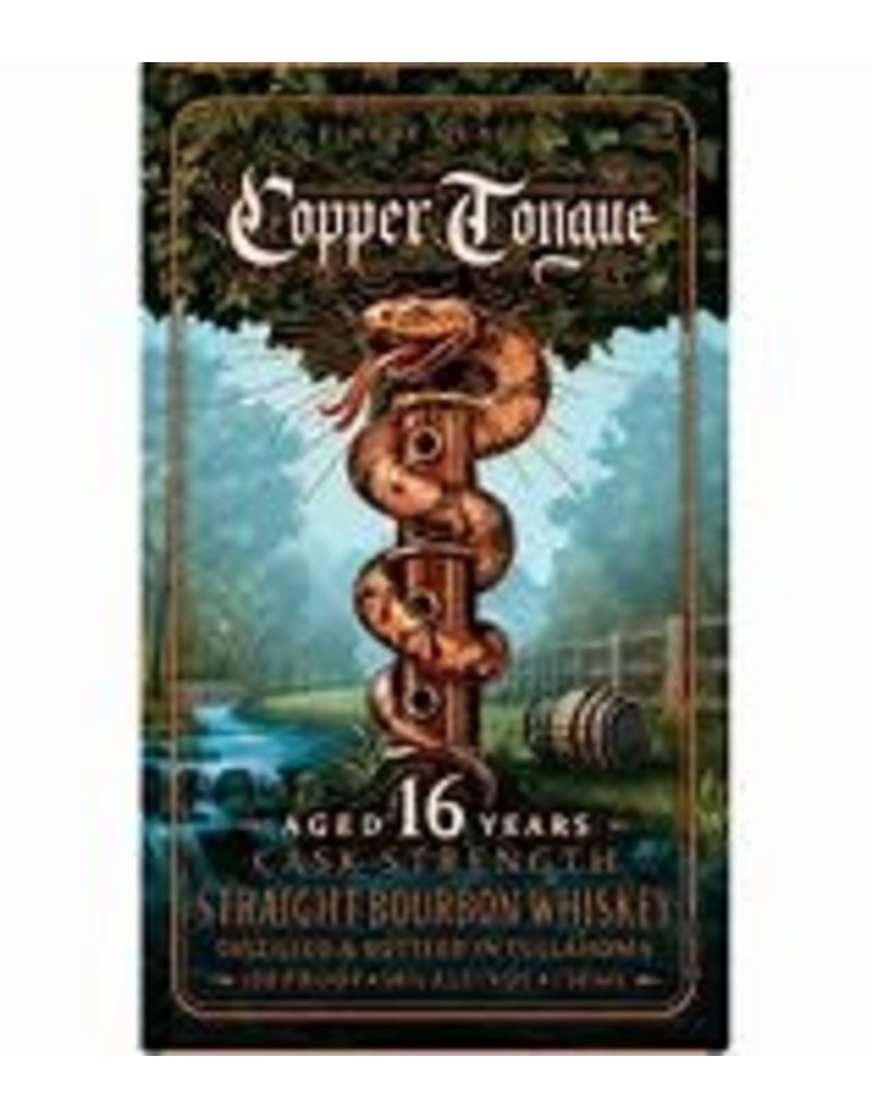 Bourbon Whiskey Copper Tongue 16 Year Old Cask Strength 89.8 Pf 750mL