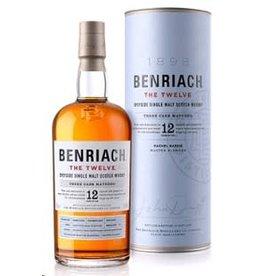 Single Malt Scotch Benriach The Smoky Twelve 12 Year Old Speyside Single Malt Scotch Whisky 750ml