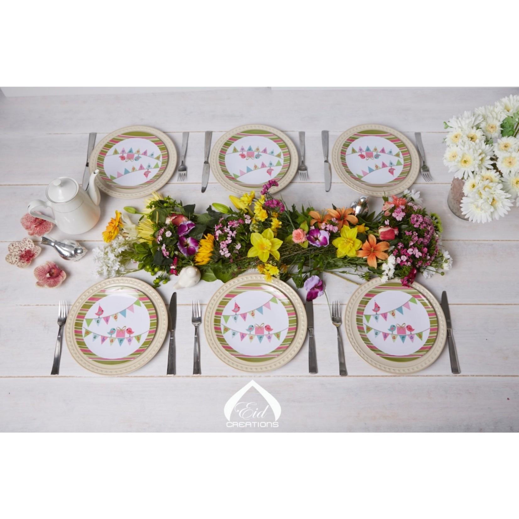 Eid Creations Shabby Zee Malamine Dinner Plates 4pk