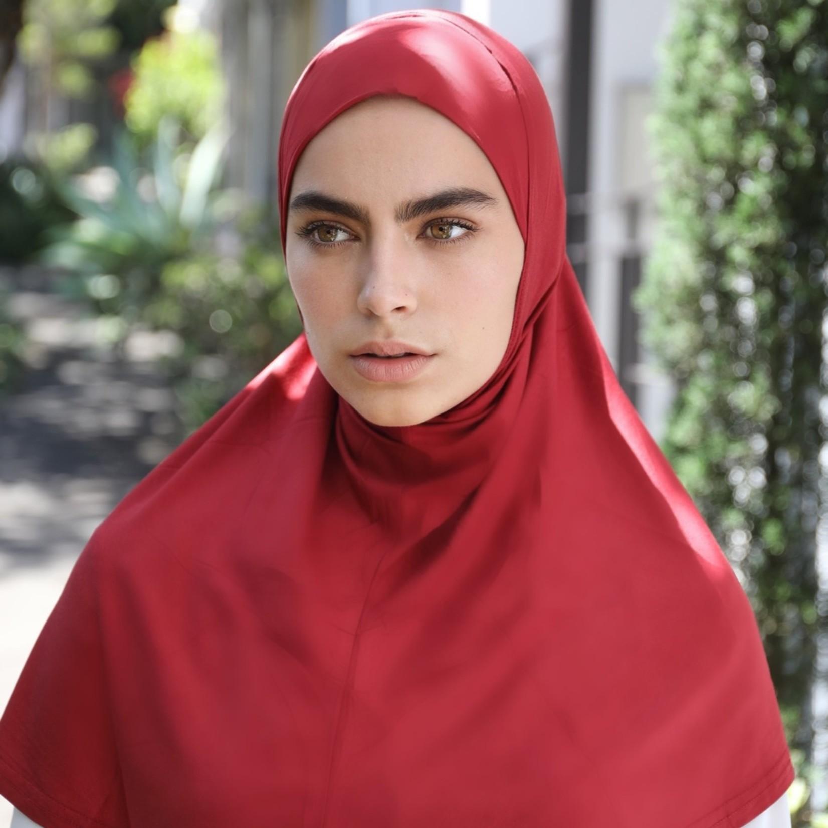 Nasiba Fashion 1pc Hijab Barn Red (J)