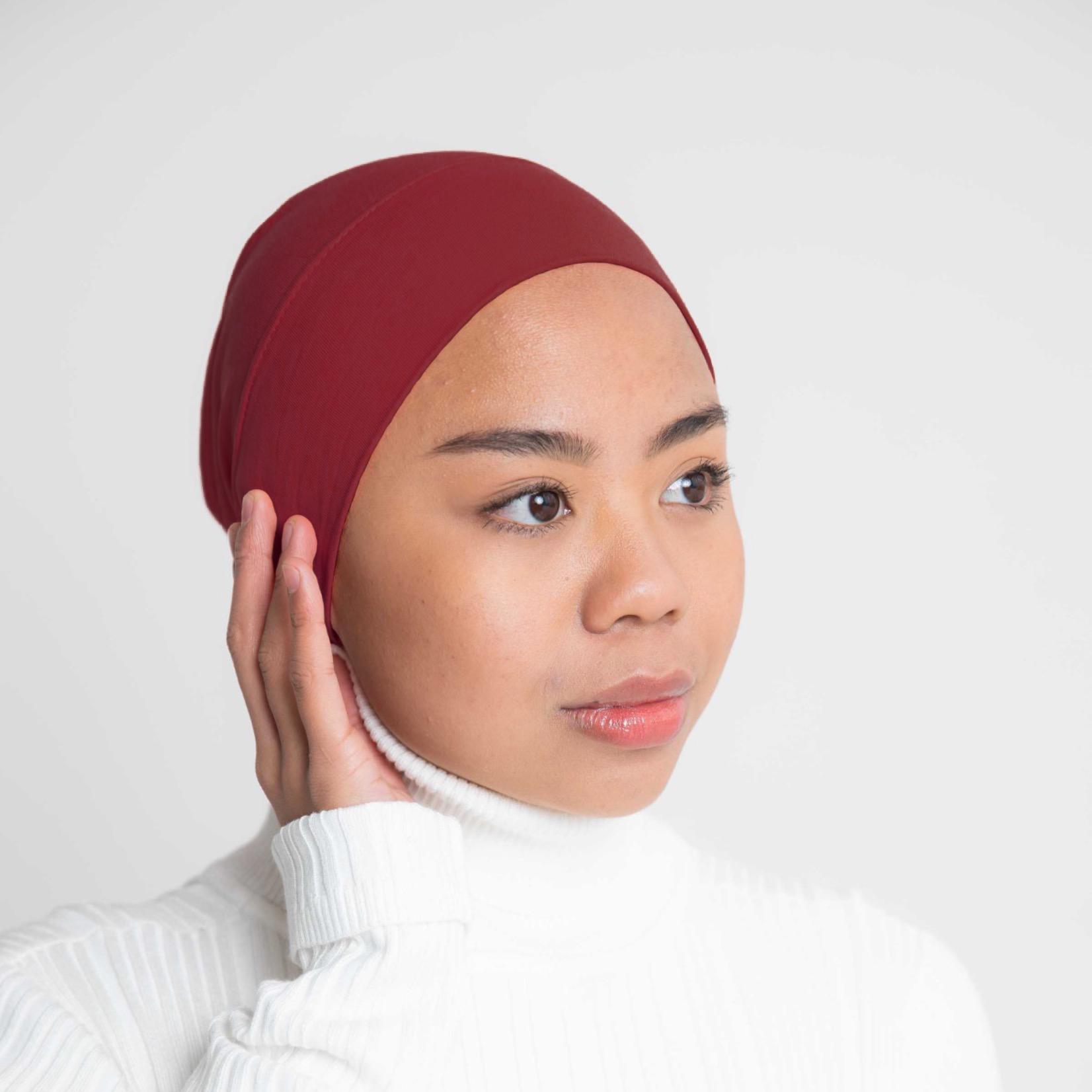 Nasiba Fashion Headband Dark Red
