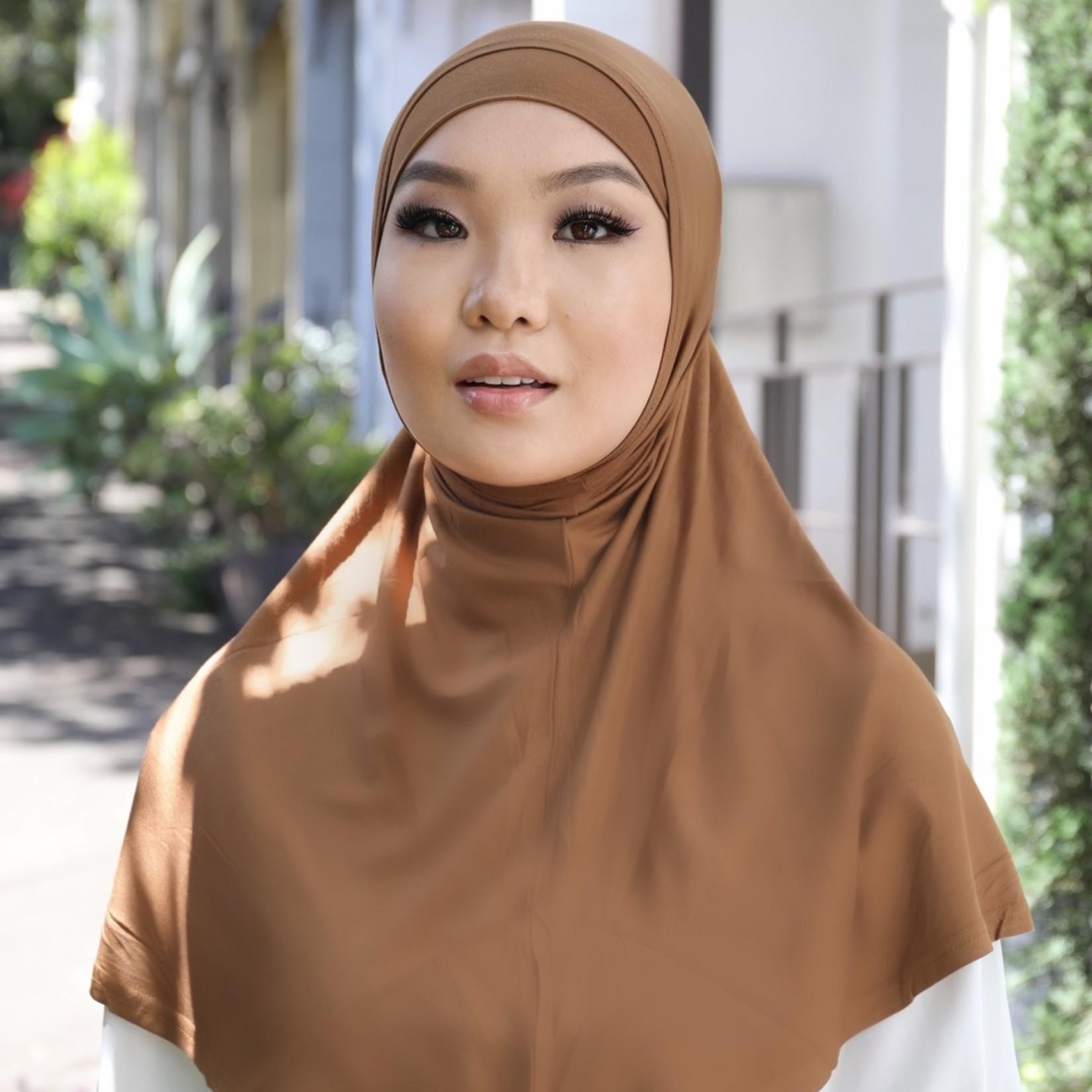 Nasiba Fashion 2pc Hijab Brown Oak (J)