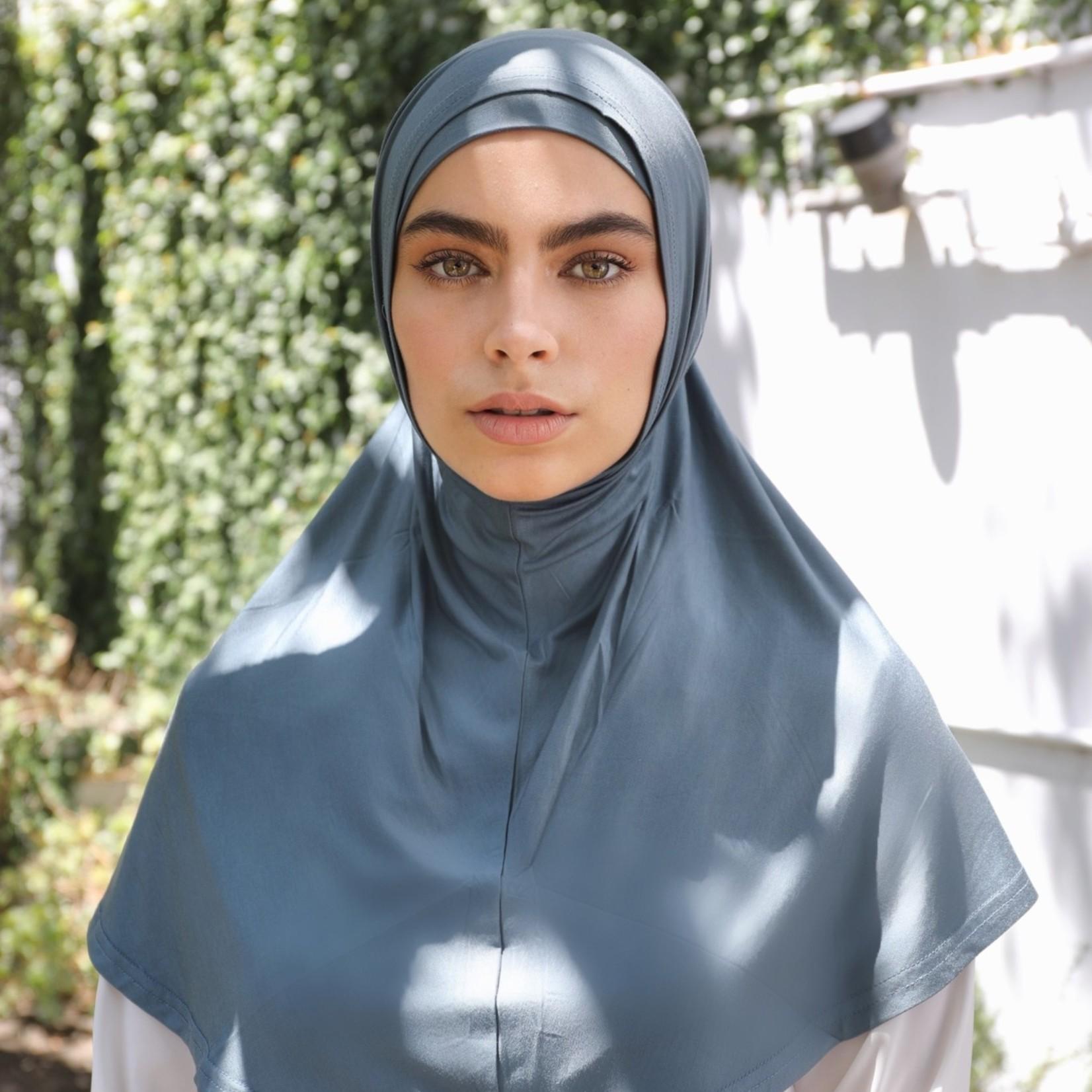 Nasiba Fashion 2pc Hijab Brittany blue (J)