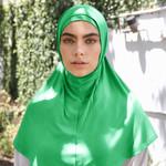 Nasiba Fashion 2pc Hijab Light green (J)