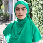 Nasiba Fashion 2pc Hijab Sea green (J)