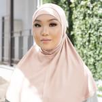 Nasiba Fashion 2pc Hijab vanilla cream (J)