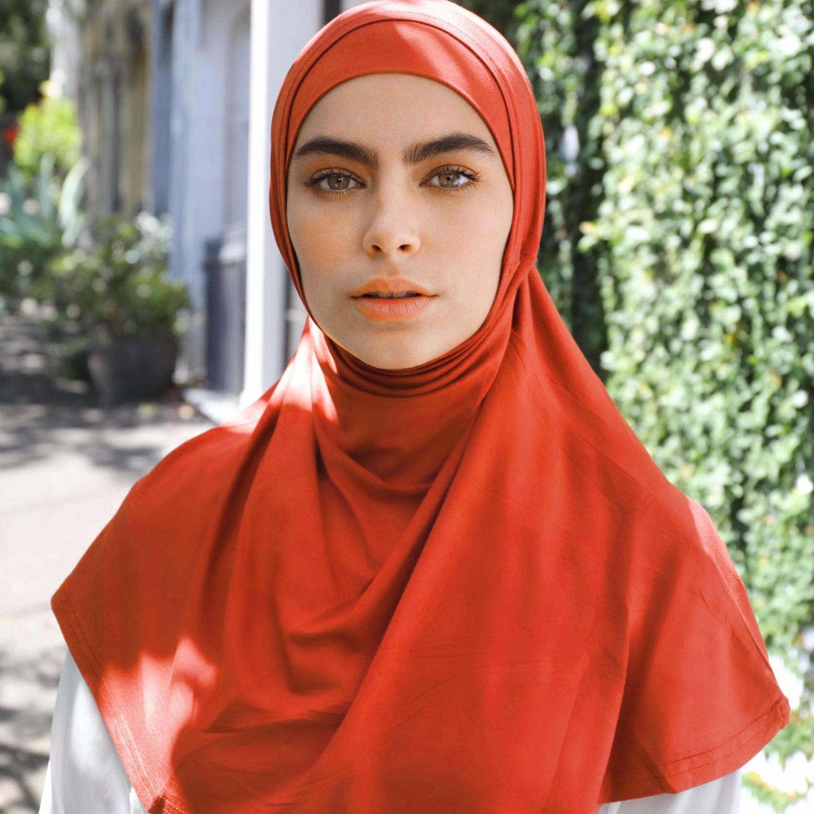 Nasiba Fashion 2pc Hijab Mandarin Red (J)