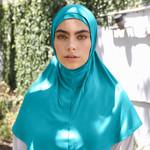 Nasiba Fashion 2pc Hijab Blue atoll (J)
