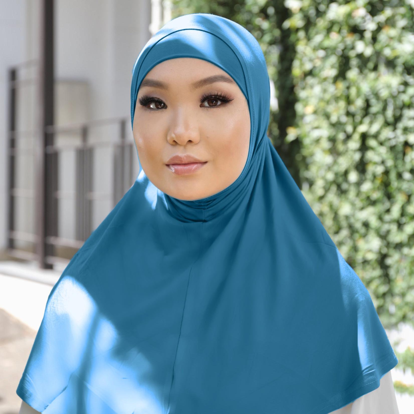 Nasiba Fashion 2pc Hijab Deep water (J)