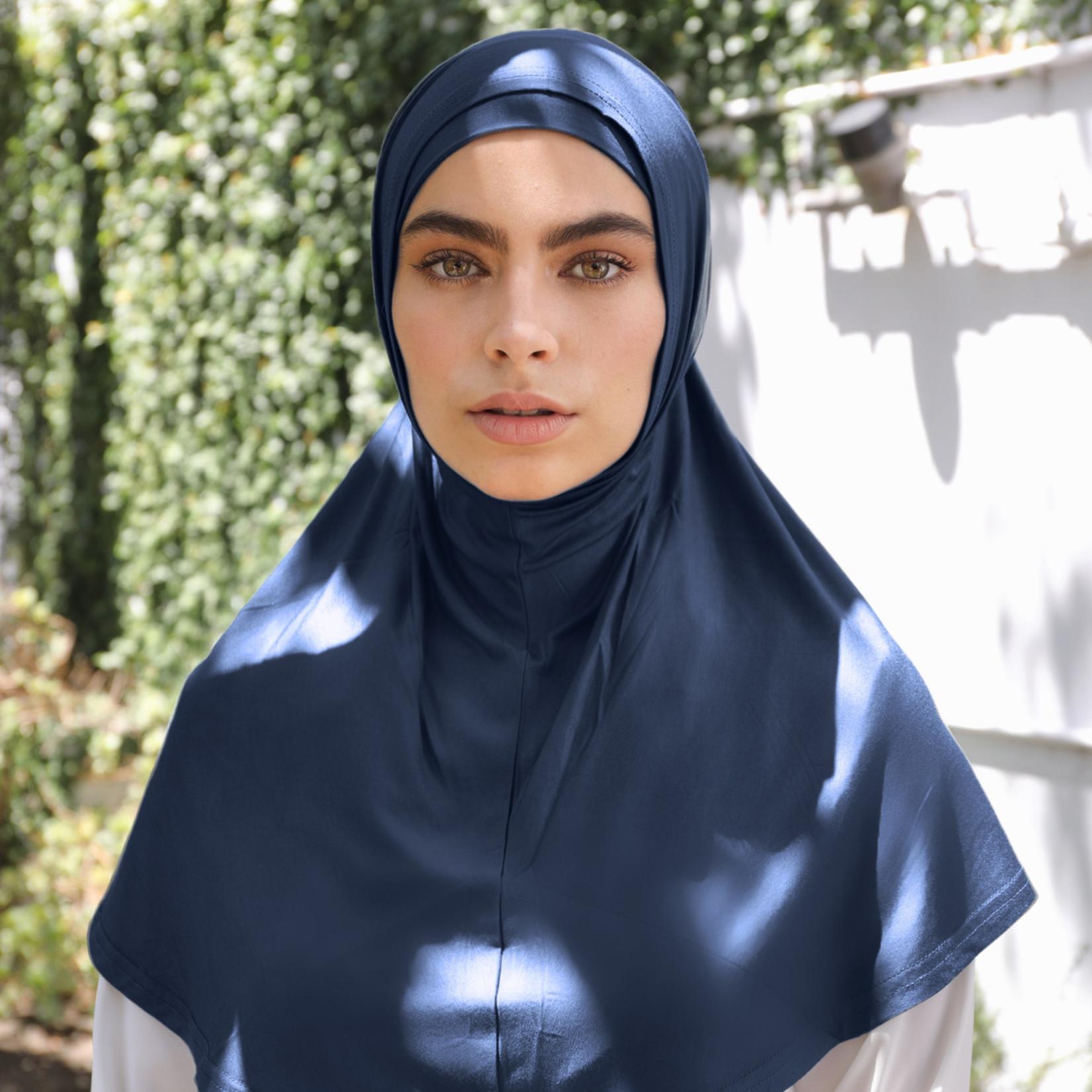 Nasiba Fashion 2pc Hijab Nautical navy (J)