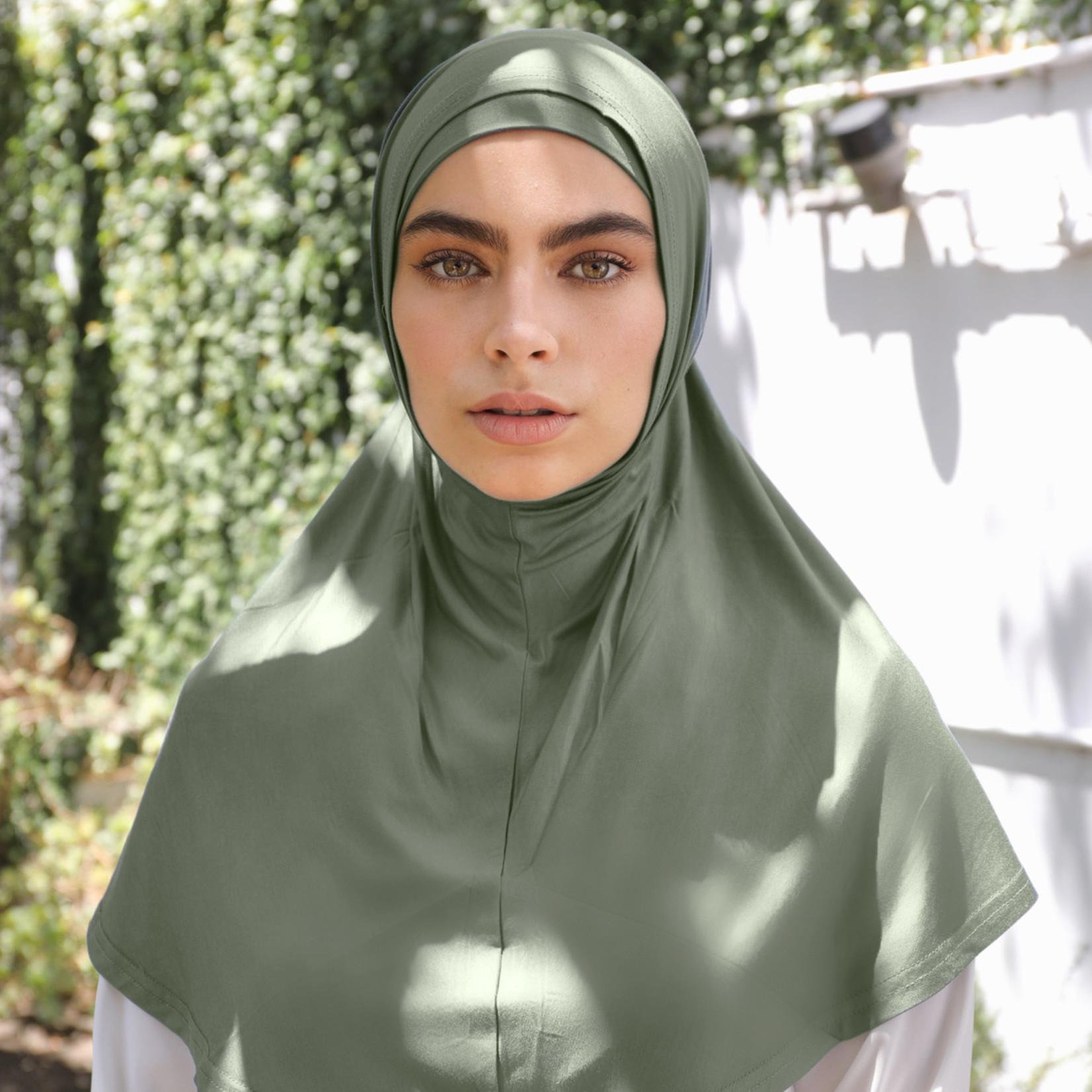 Nasiba Fashion 2pc Hijab Khaki (J)