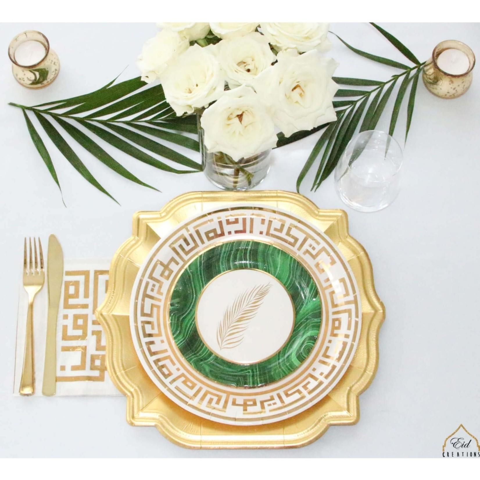 Eid Creations Palm Dessert Plate