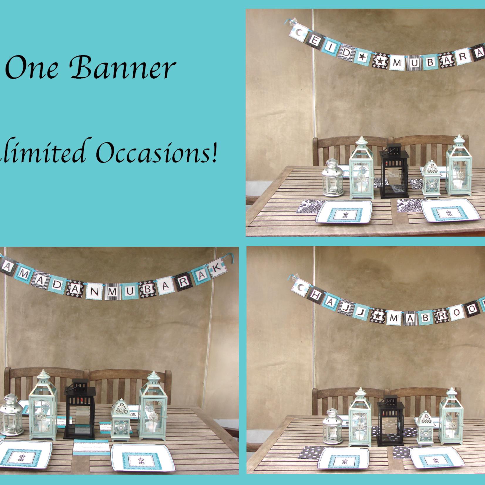 Eid Creations Damask Lantern DIY Banner