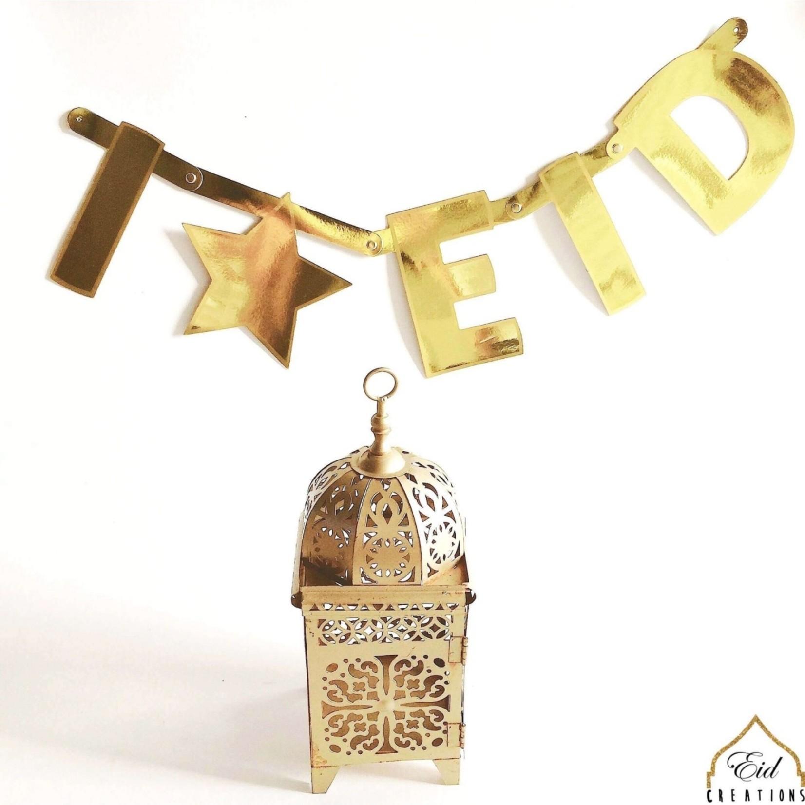 Eid Creations Gold DIY Banner