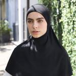 Nasiba Fashion 1pc Hijab Black (J)