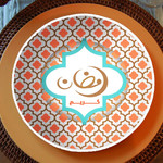 Eid Creations Arabesque Malamine Dinner Plates 4pk