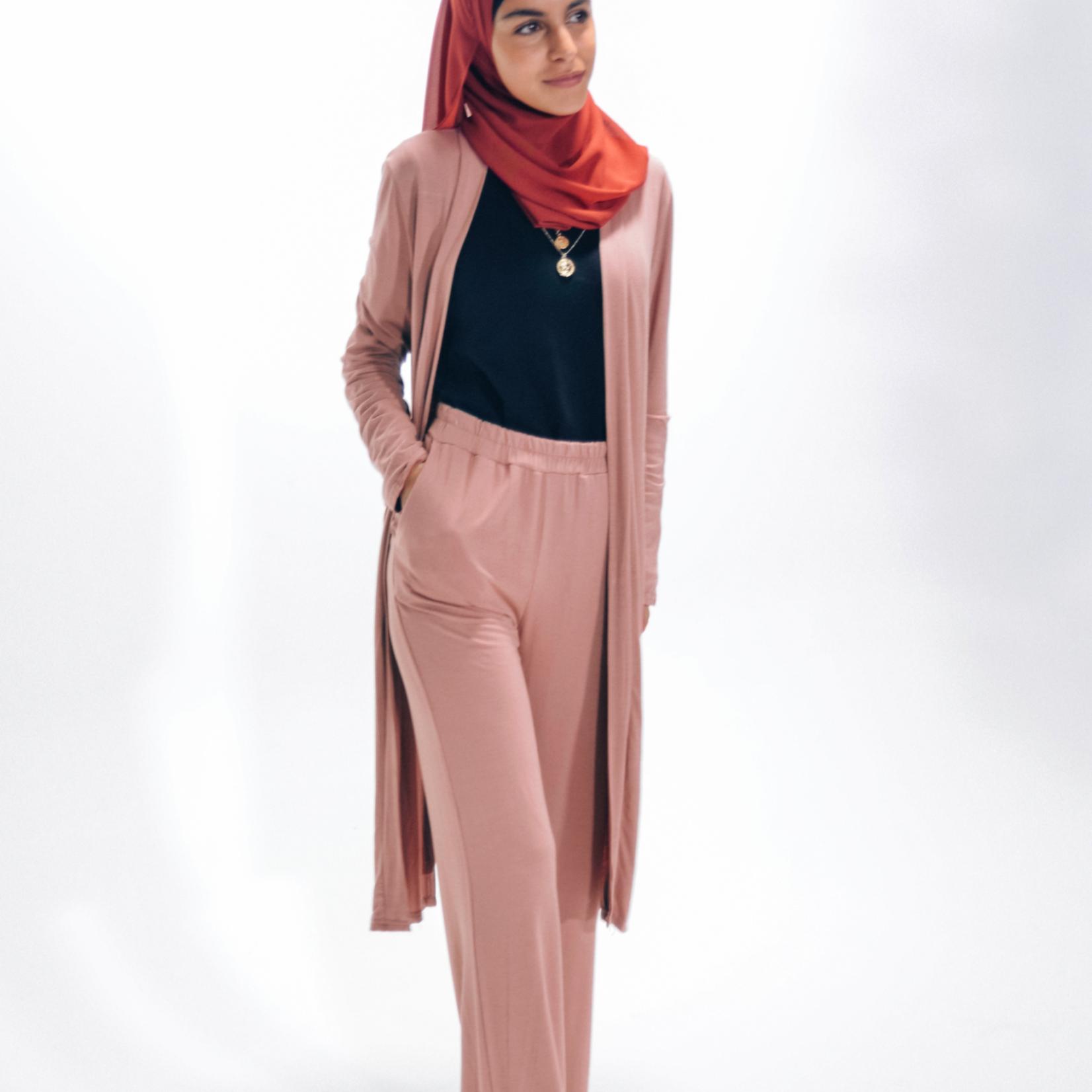 Nasiba Fashion Girls Blush Pink Wide leg pants