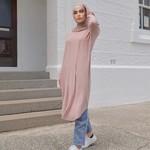 Nasiba Fashion Pearl Pink Dolman Midi Top