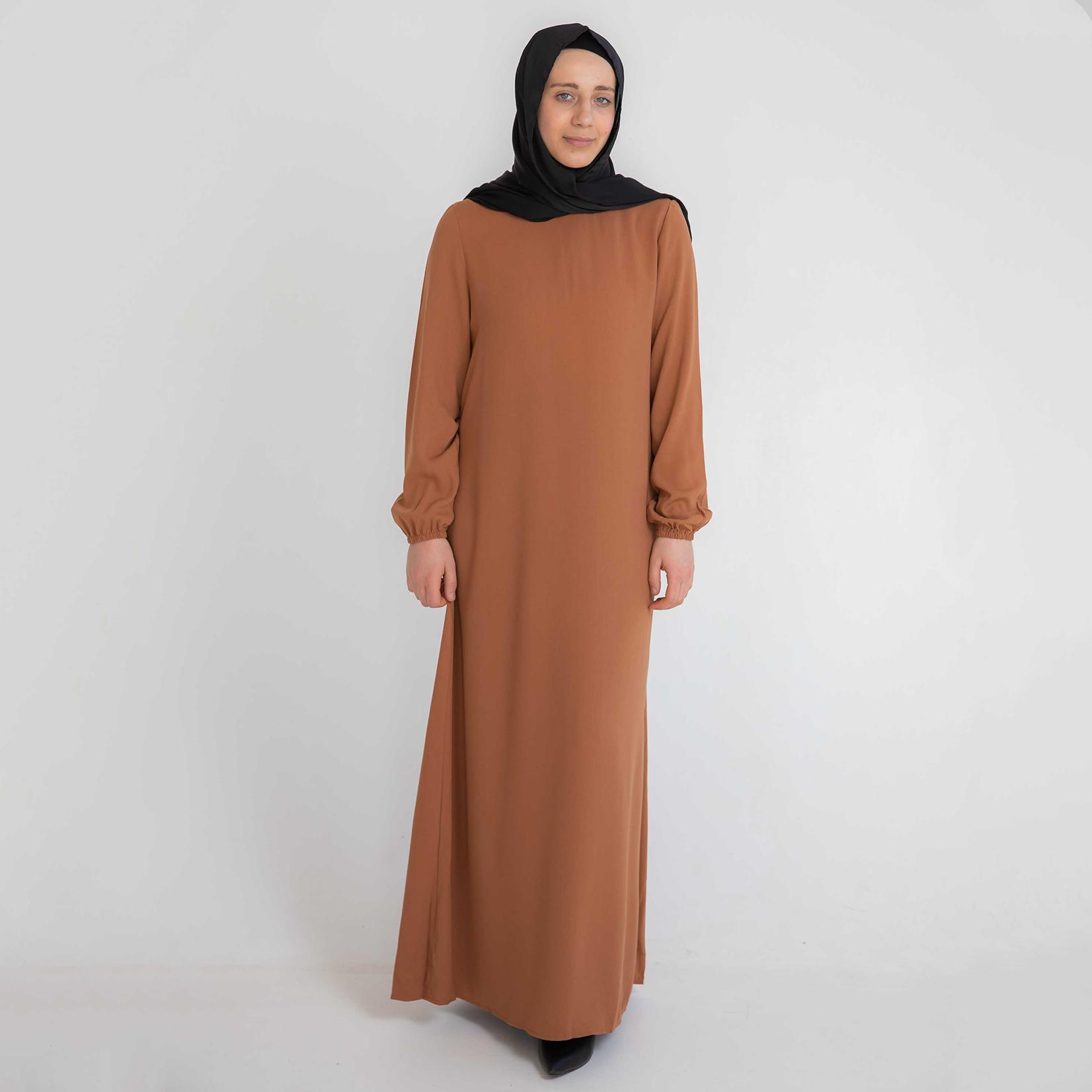 Nasiba Fashion Tan Cuffed Abayah