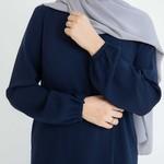 Nasiba Fashion Navy Cuffed Abayah