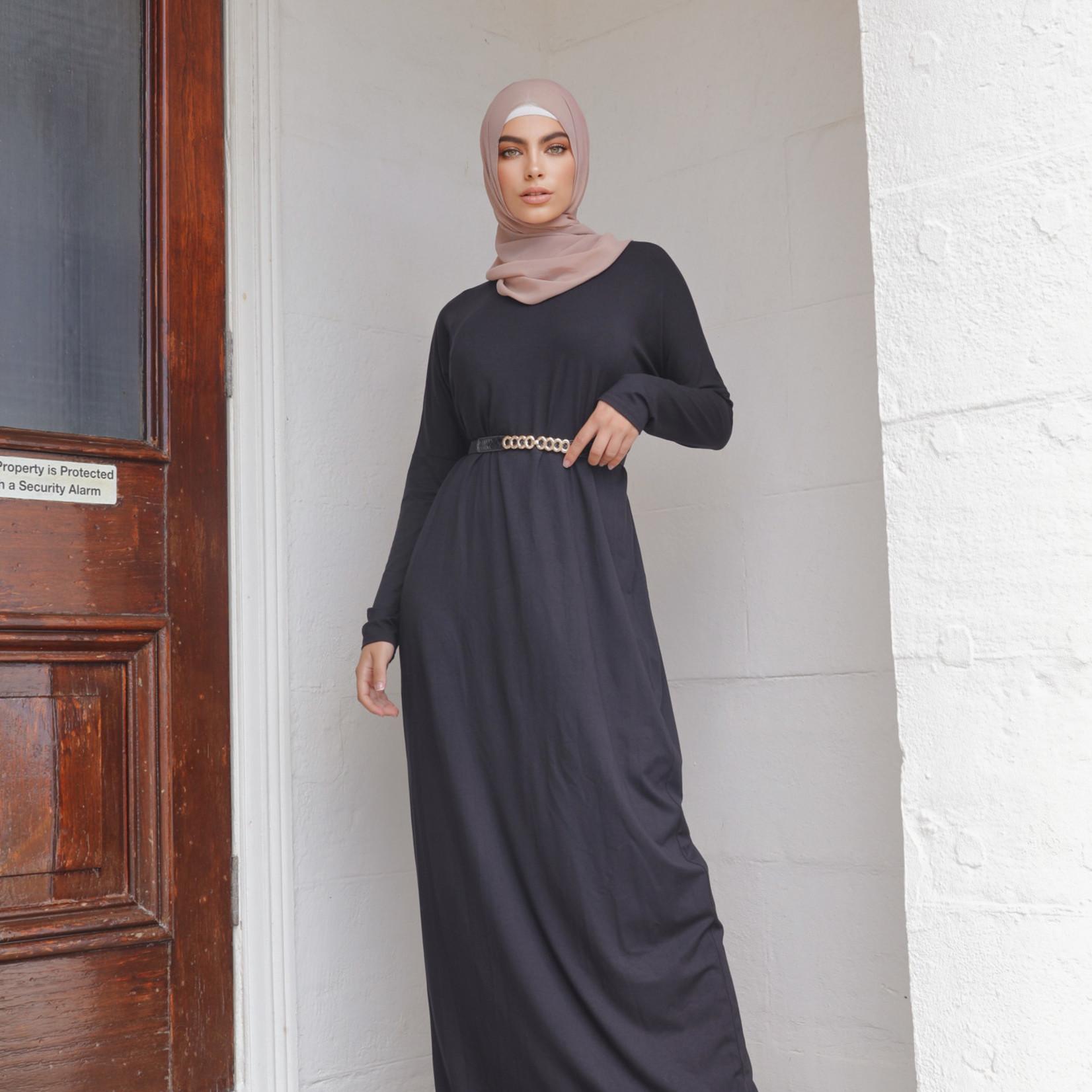 Nasiba Fashion Black Dolman Dress