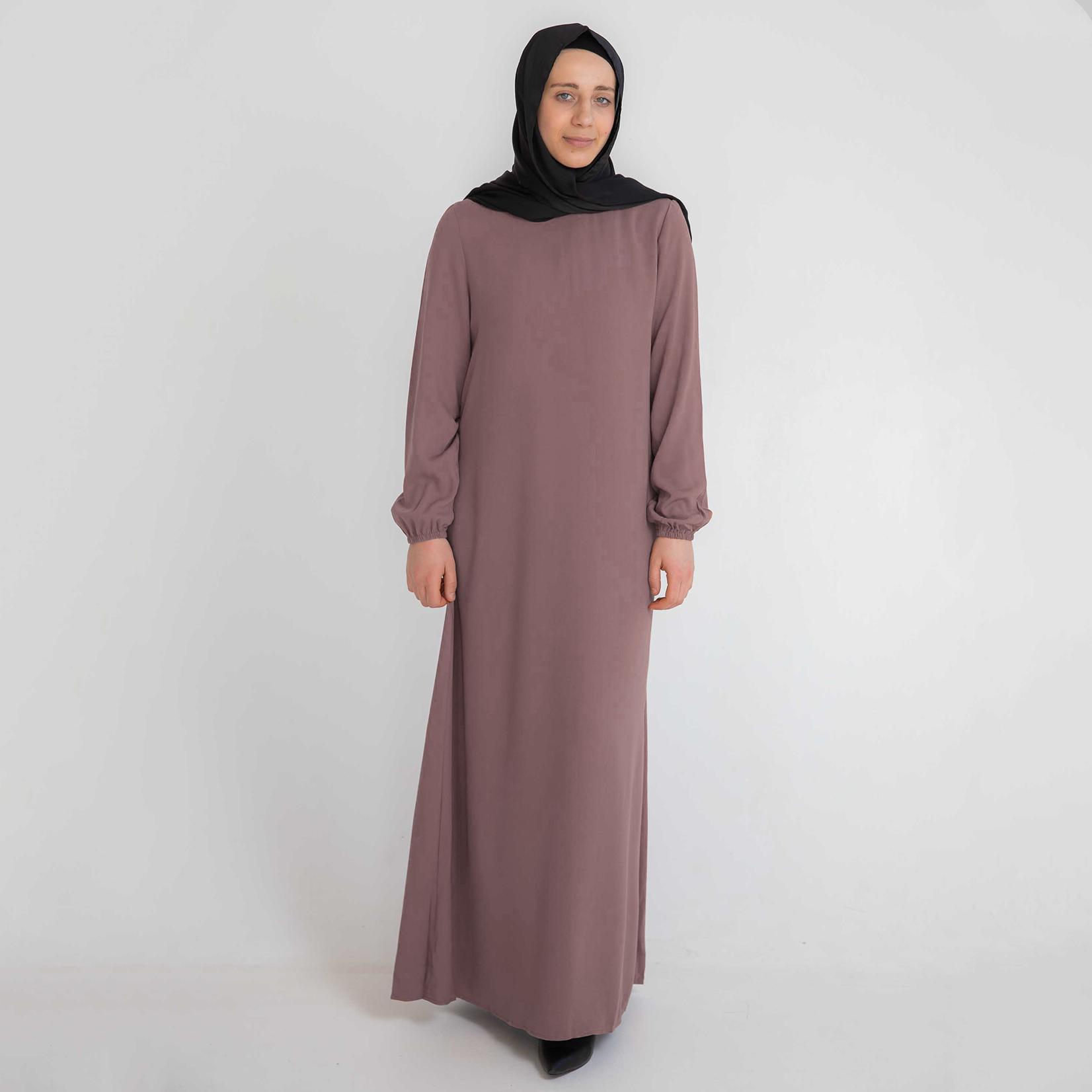 Nasiba Fashion Dusty Pink Cuffed Abayah