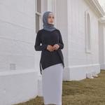 Nasiba Fashion Black Dolman Top