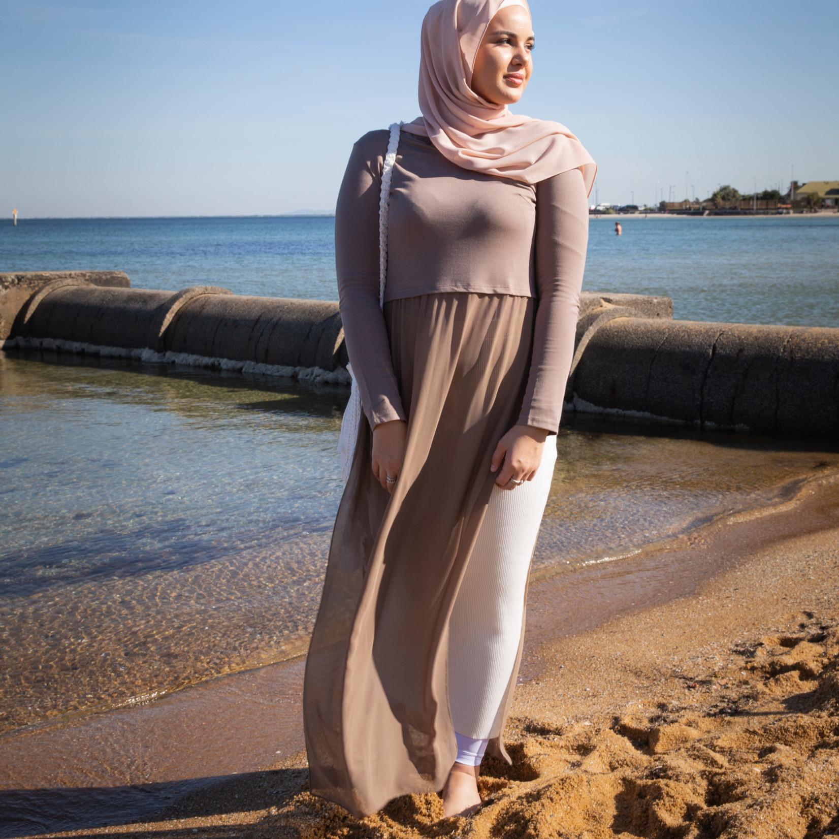 Nasiba Fashion Rosana Dress Mocha