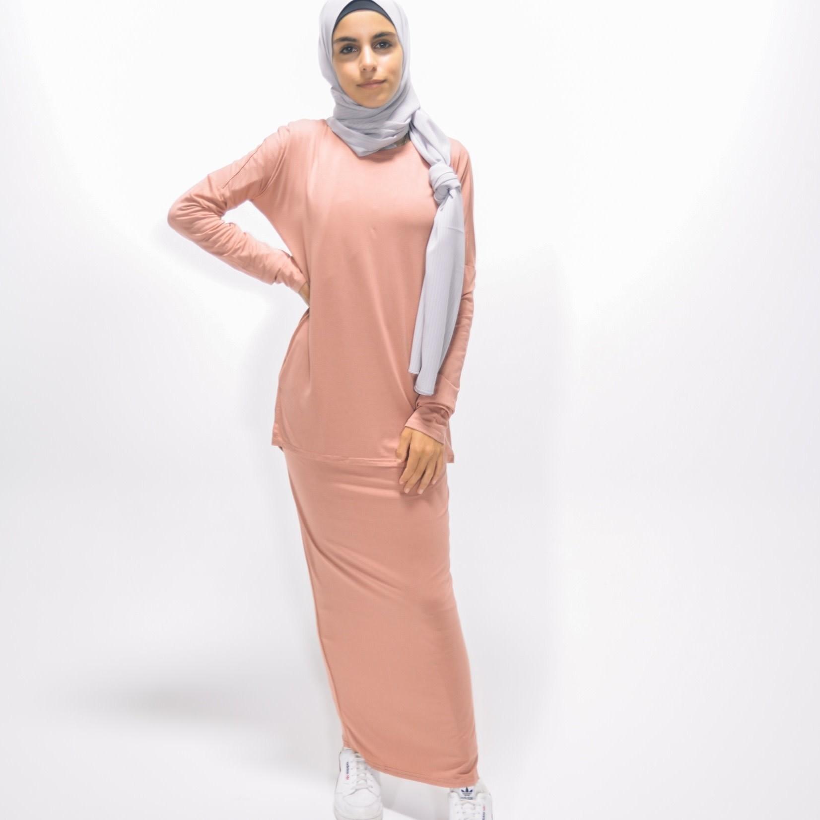 Nasiba Fashion Girls Blush Pink Skirt