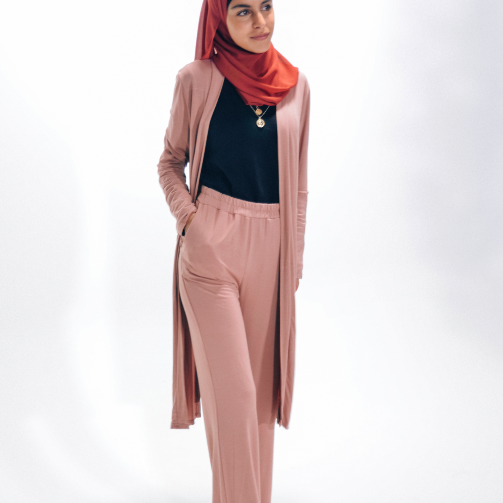 Nasiba Fashion Blush Pink Girls cardigan