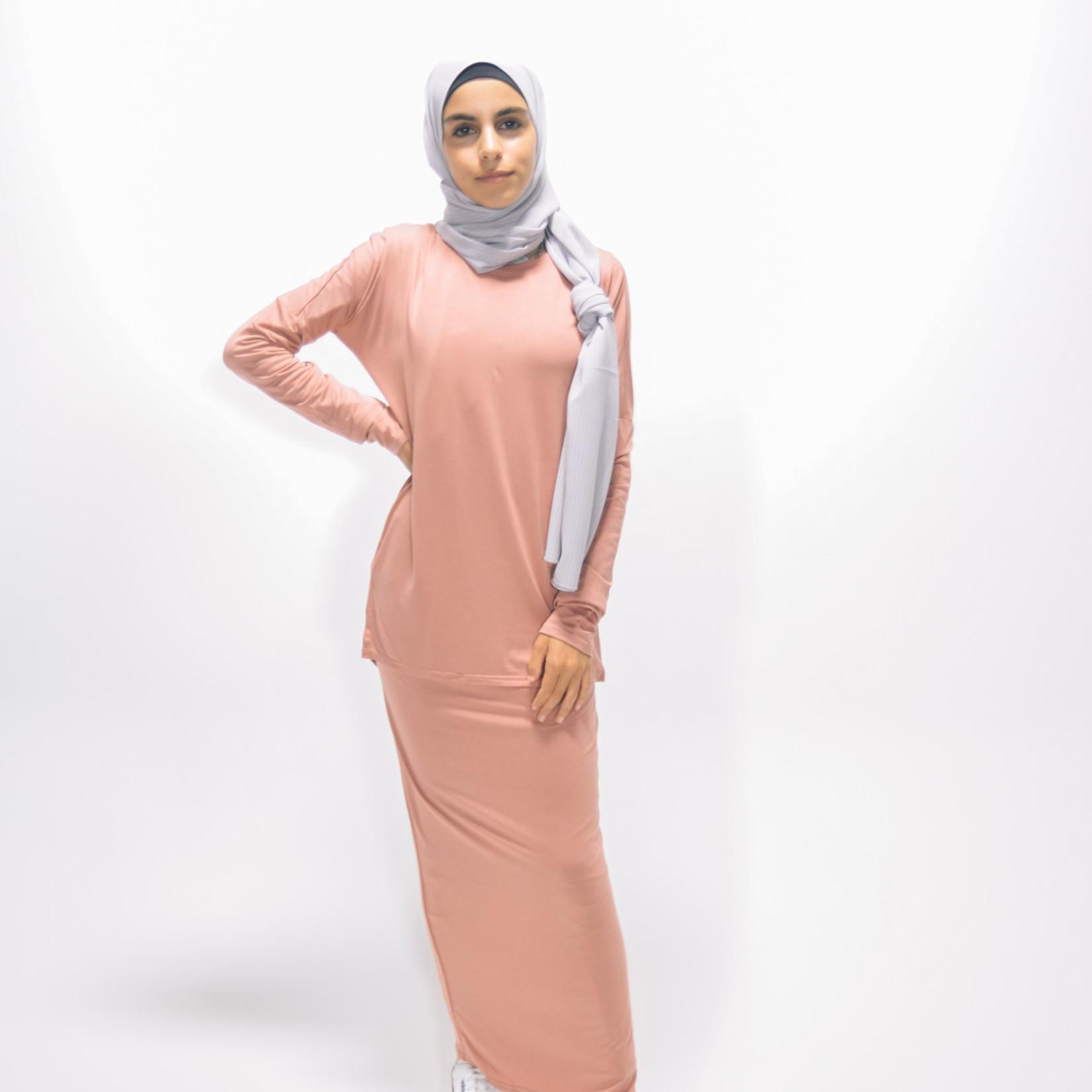 Nasiba Fashion Girls Blush Pink Batwing Top