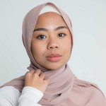 Nasiba Fashion Luxe Crepe Shawl Sepia Rose