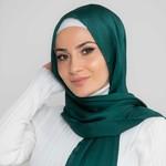Nasiba Fashion Luxe Satin Shawl Sea Moss