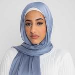 Nasiba Fashion Luxe Satin Shawl Persian Jewel