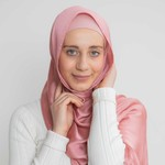 Nasiba Fashion Luxe Satin Shawl Roseate