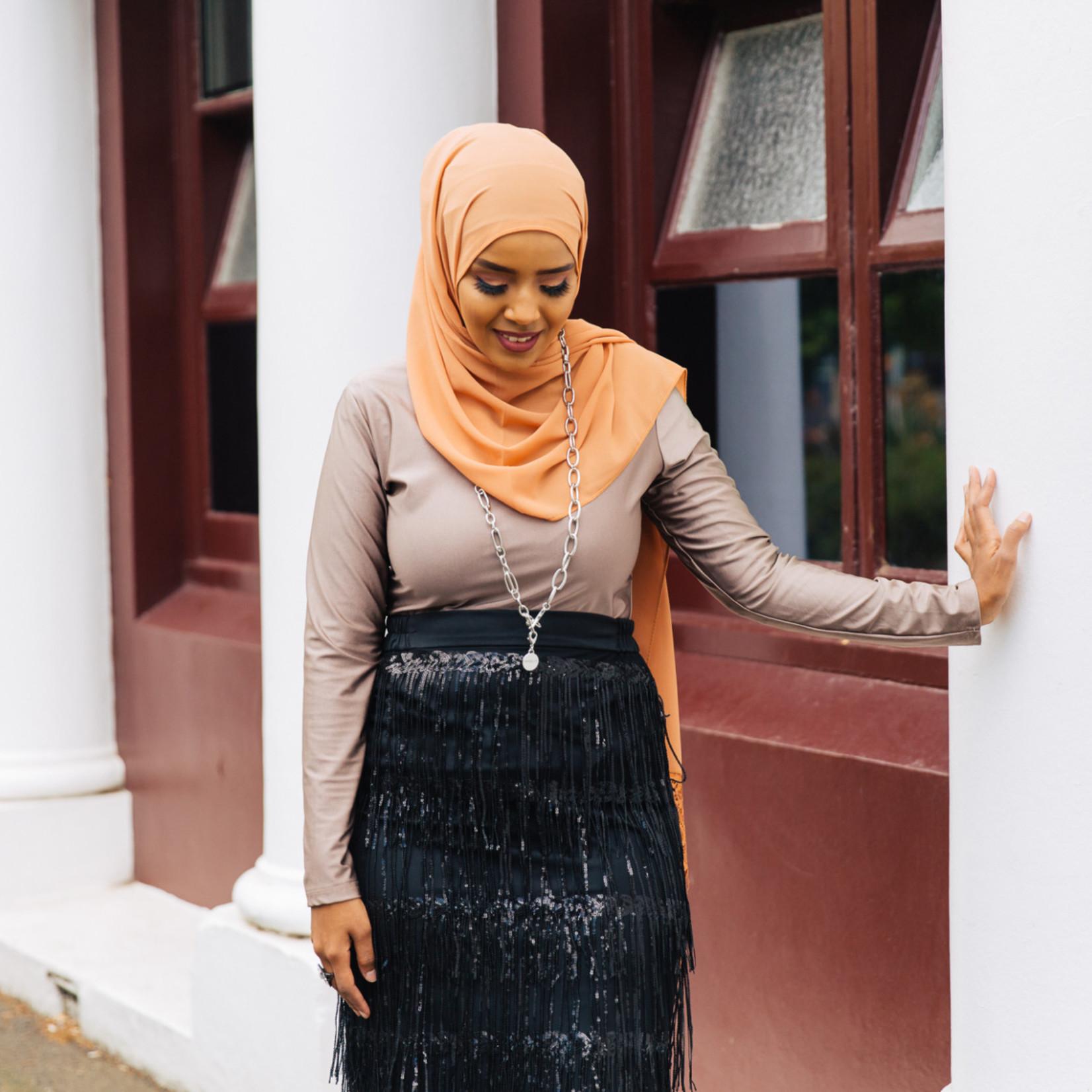 Nasiba Fashion Sequence Tassel Skirt