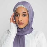 Nasiba Fashion Luxe Satin Shawl Valerian