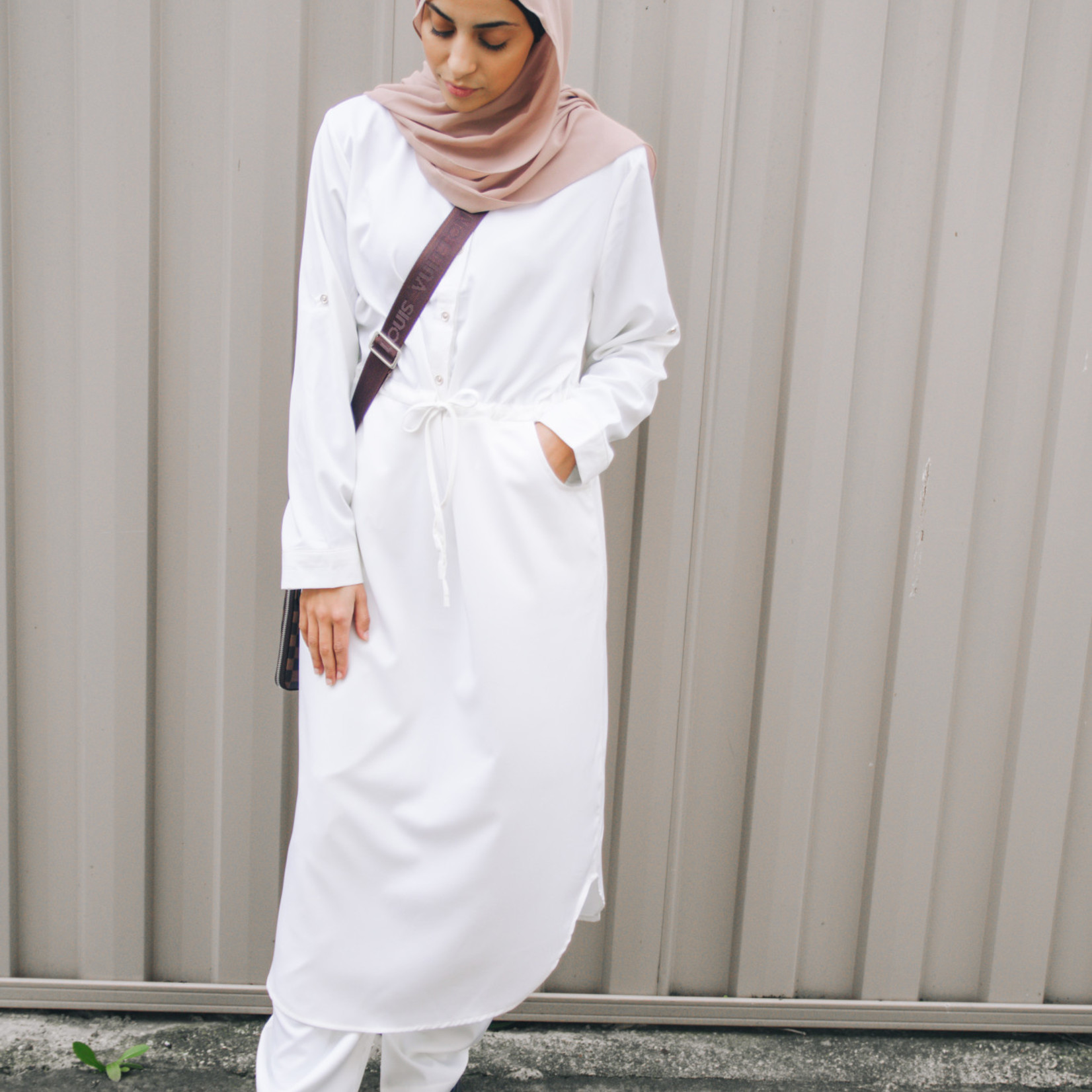 Nasiba Fashion White 2pc Tunic Set