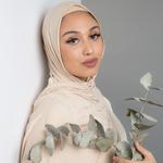 Nasiba Fashion Jersey Shawl Rose Beige