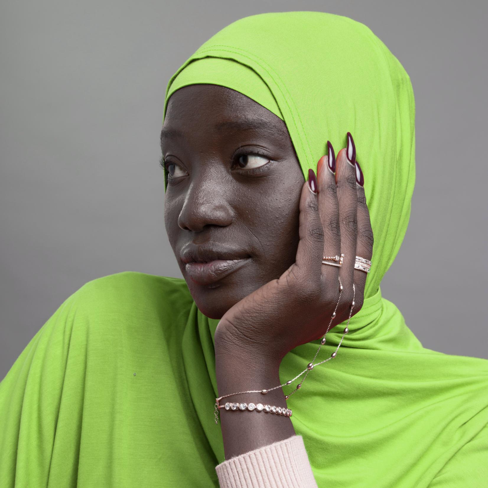 Nasiba Fashion Jersey Shawl Lime Green