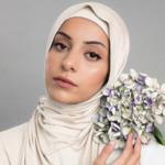 Nasiba Fashion Jersey Shawl Pale Ivory