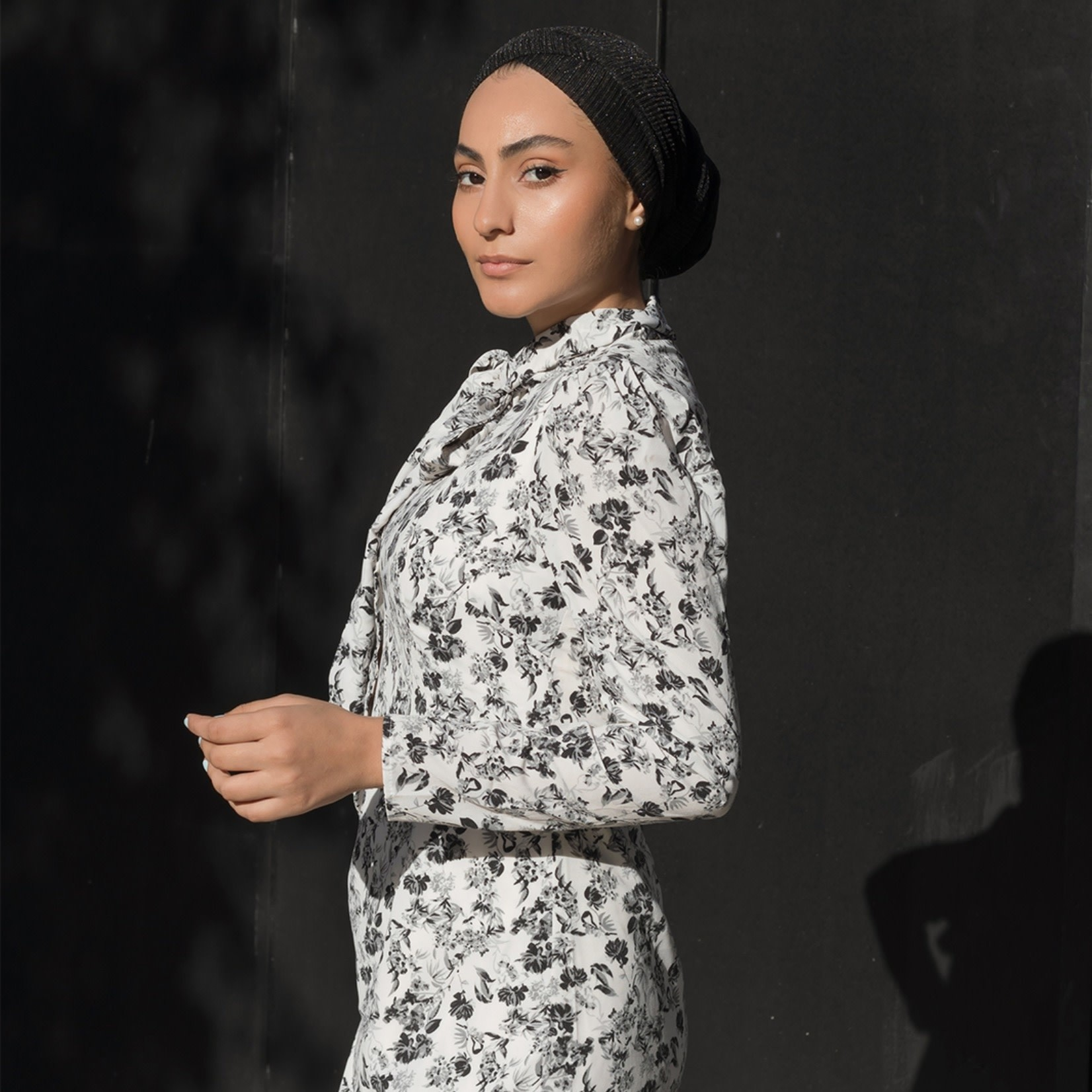 Hijab House Tie Neck Maxi Dress