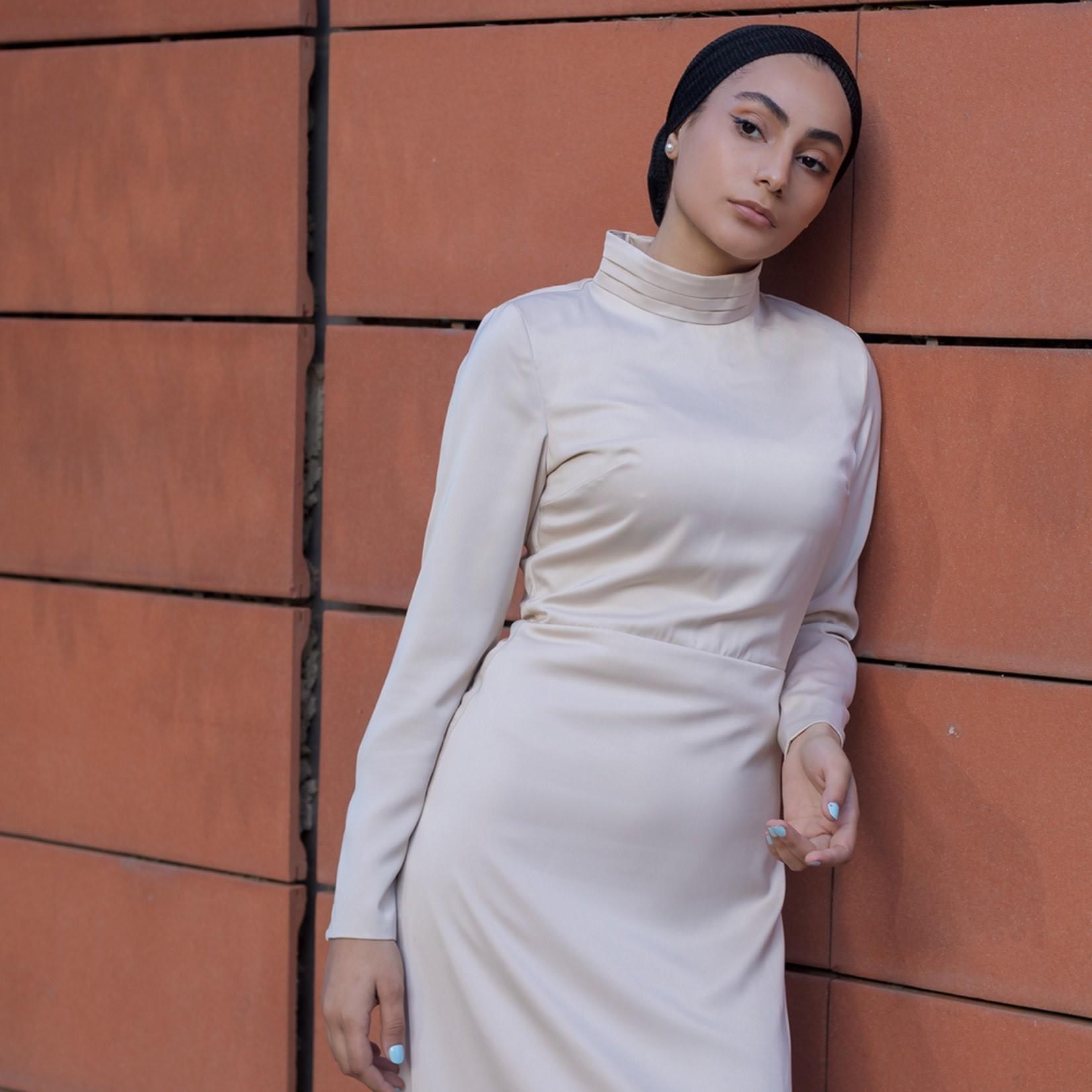 Hijab House Beige Deluxe Wrap Dress