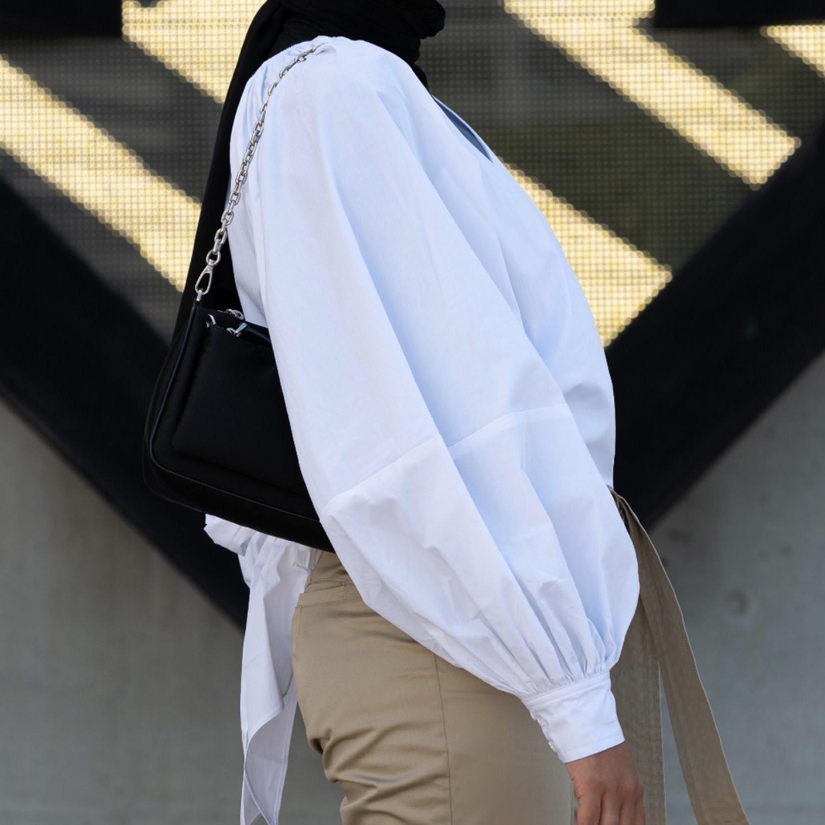 Hijab House White wrap blouse