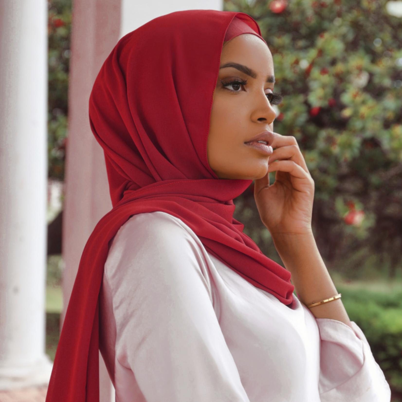 Nasiba Fashion Dark Red LRG scarf