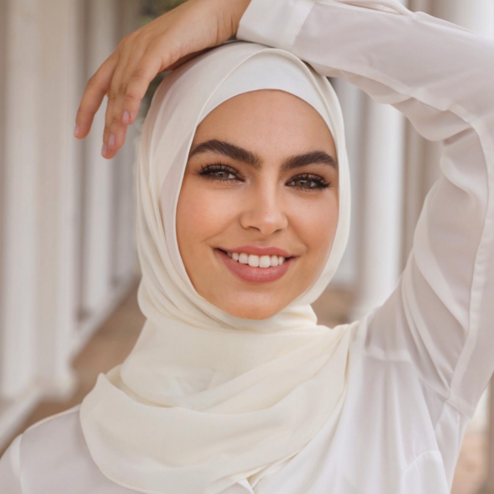 Nasiba Fashion Ivory scarf
